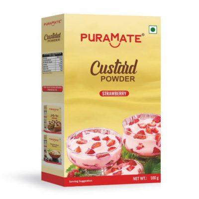 Custard Powder Strawberry Puramate
